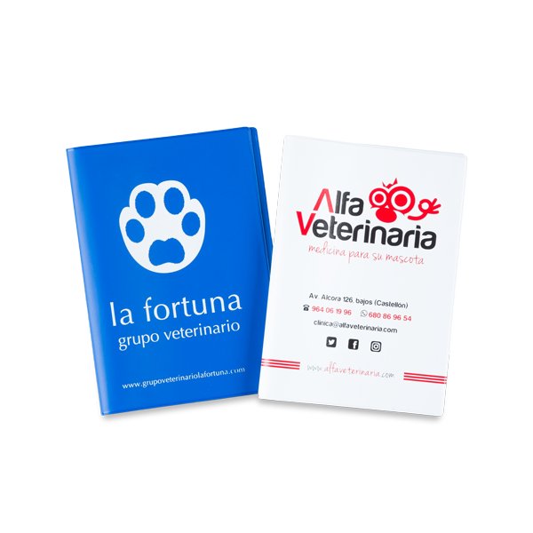 Fundas para cartillas veterinarias
